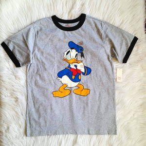 Disney Store Boys Donald Duck Ringer Tee 10/12